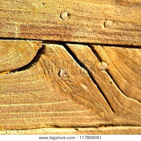 Cheglio Abstract   Rusty Brass Brown Knocker