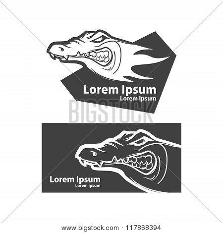 Crocodile Logo Elements