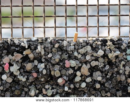 Burglar Bars And Rubbish Pile