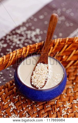 homemade tahini - food and drink