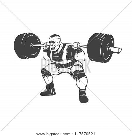 Squat Powerlifting Man