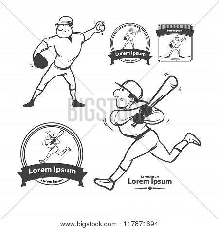 cartoon players baseball