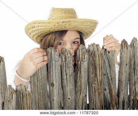 Peek-a-boo Country Girl