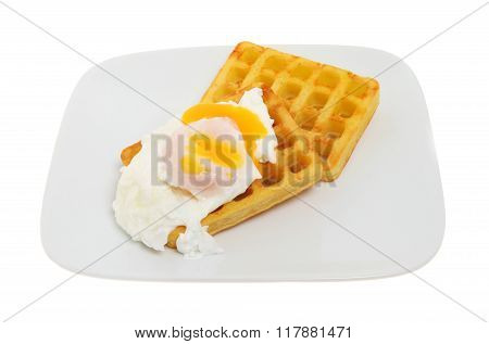 Poached Egg And Potato Waffles
