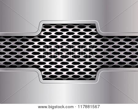 Background, Polished Metal Texture, Vector. Web Design Element. Metal Grid