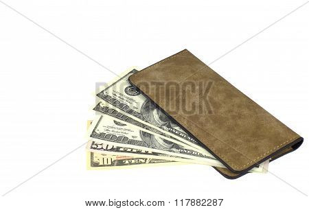 Dollars In Wallet Isolated