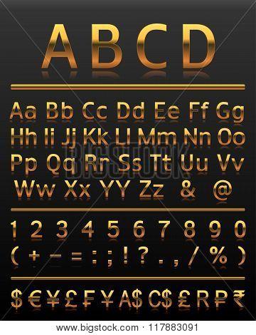 Alphabet Set 2 Gold All Letters