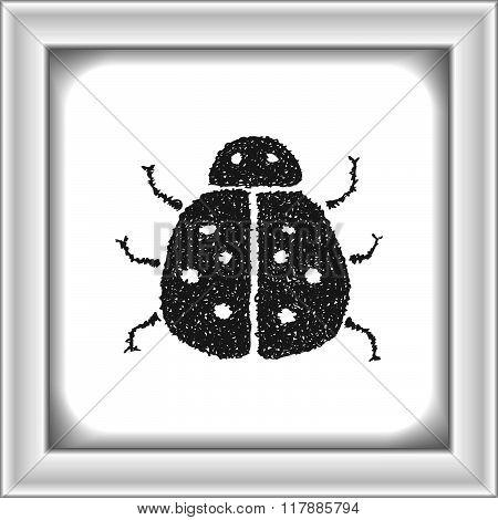 Simple Doodle Of A Ladybird