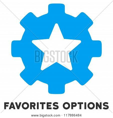 Favorites Options Flat Icon with Caption