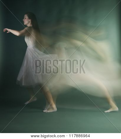 Ballet Dancer Woman In Motion Blur, Ballerina