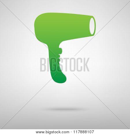 Hair Dryer green icon