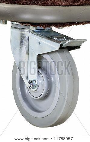 Close Up Of A Hostel Wheel Cart