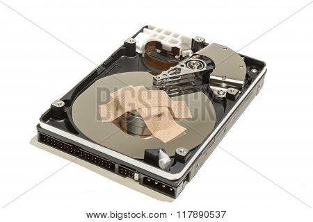 Hard Disk Drive And A Sticking Plaster