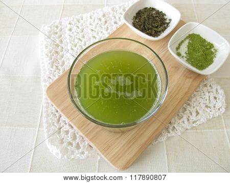 Sencha green tea with matcha