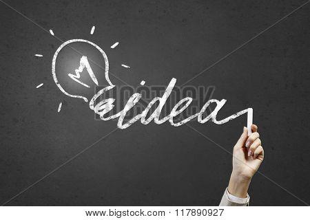 Bulb as symbol of great idea