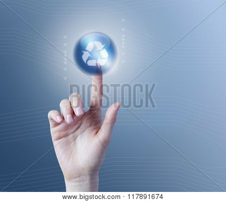 Recycle application button