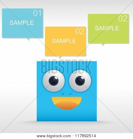 Funny Character Of Blue Box
