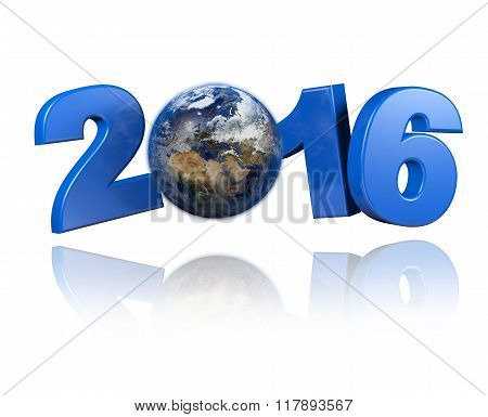 Europe Centered Earth View 2016 Design