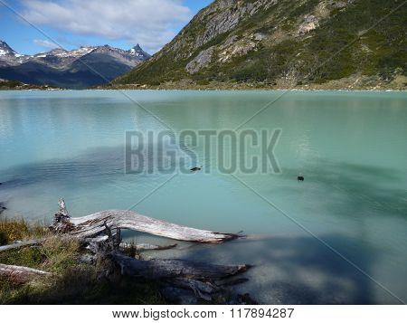 Laguna Esmeralda In Tierra Del Fuego In Patagonia