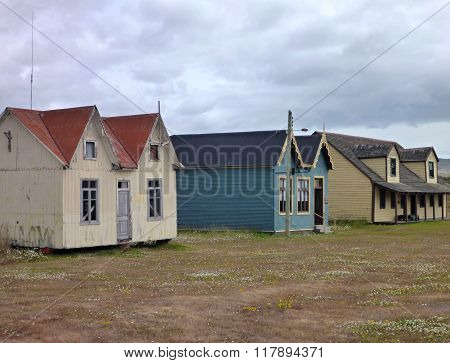 Old Houses In Patagonian Pampa
