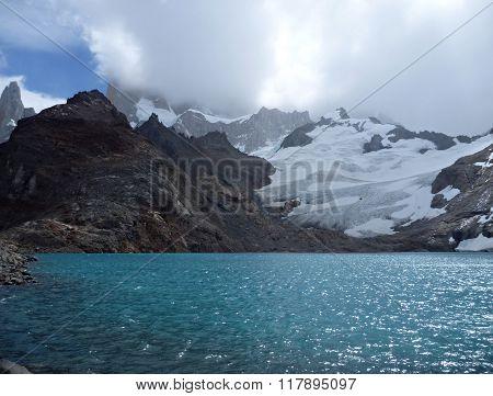 Laguna De Los Tres In Park Los Glaciares In Patagonia