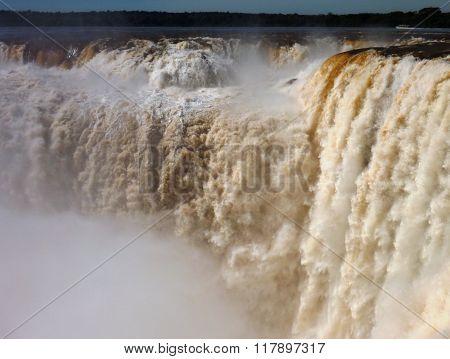 Garganta Del Diablo At Iguacu Waterfall In South America