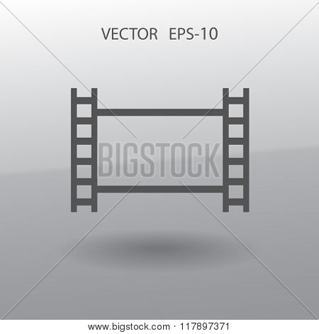 Flat icon of video