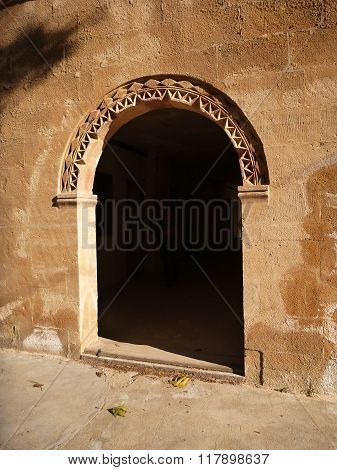 Arched Arcade In Abandoned Collegion In Perge