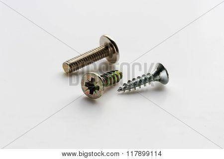 two metal screws