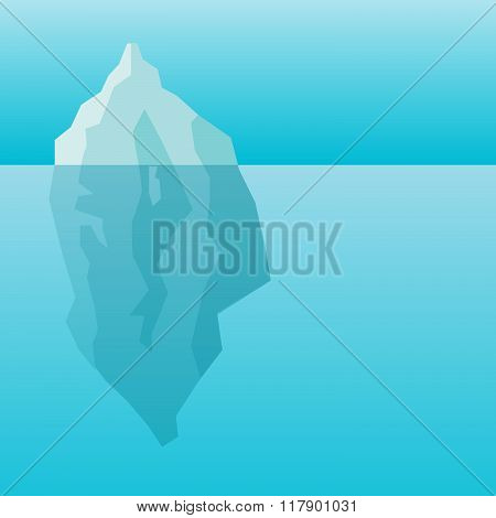 Iceberg in water background