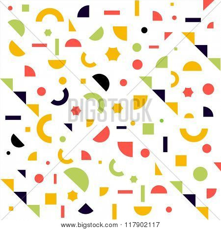 abstract background. composition of simple geometric shapes