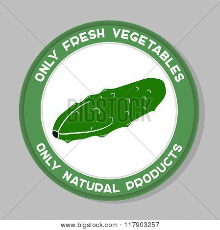 Cucumber Label Design