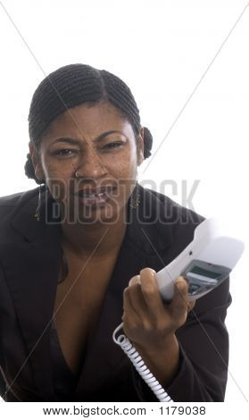 Pretty Woman On Telephone