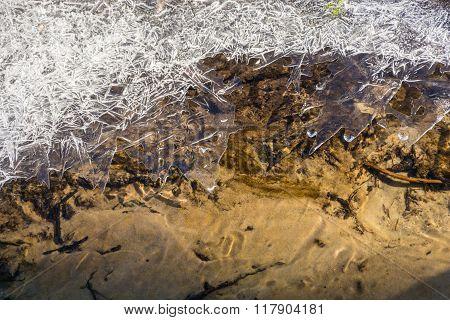 Beautiful Texture Of Thin Ice.