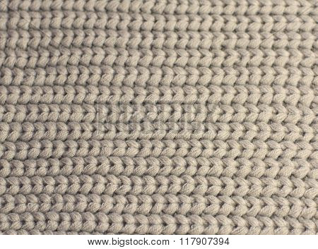 Beige Knitting Wool Background