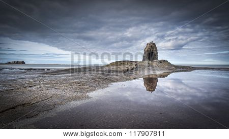 Black Nab Saltwick Bay Whitby North Yorkshire UK