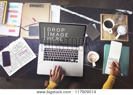 Laptop Working Technology Commercial Copy Space Concept