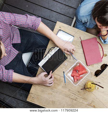 Conversation Ideas Interior Designer Meeting Teamwork Concept