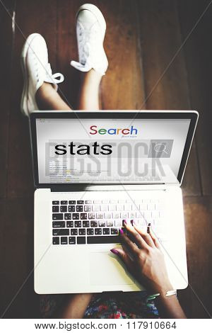 Stats Statistics Analysis Research Economic Financial Concept