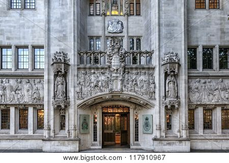 LONDON UNITED KINGDOM - 2nd october 2015: Building of Judicial Committee of the Privy Council. The Judicial Committee of the Privy Council is one of the highest courts in the United Kingdom