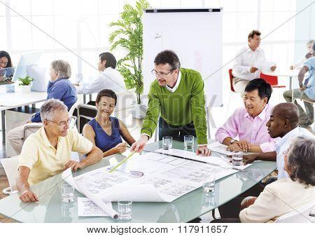 Teamwork Brainstorming Boardroom Communication Concept