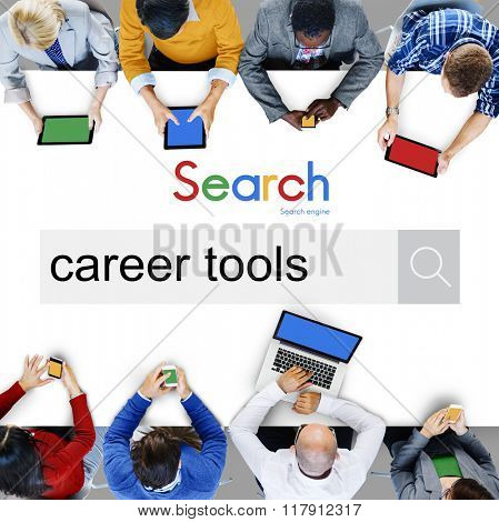 Career Tools Work Occupation Concept