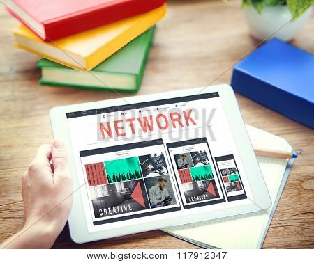 Network System Online Connection Networking Concept