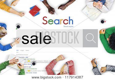 Sale Discount Promotion Retail Selling Commerce Concept
