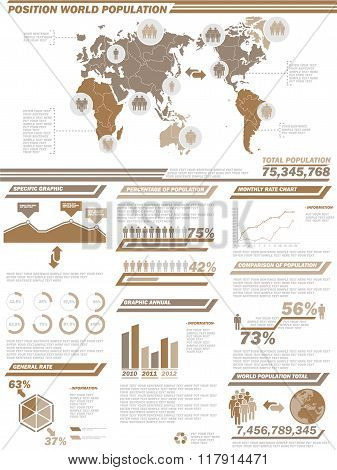 Infographic Demographics  Population 2Brown