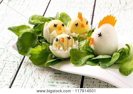 Easter Appetizer Of Boiled Eggs