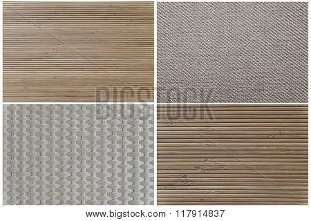 Texture of the outer furniture upholstery
