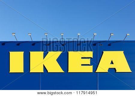 IKEA sign on a wall