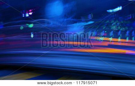 Night Colors Of The Amusement Park