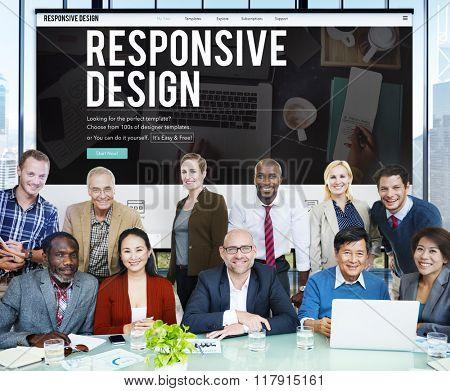 Responsive Design Layout Media Content Browser Concept